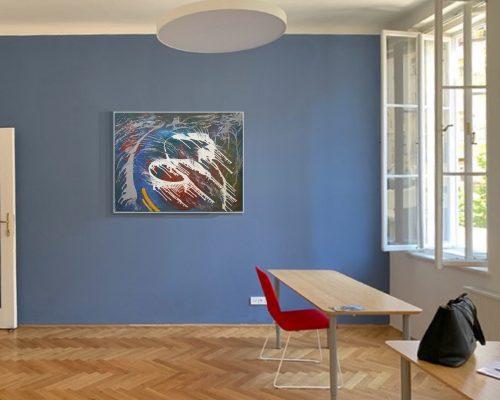 Jindrich Lipa KOLEM acryl platno 100x130cm